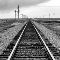 Rail Road Track-BW